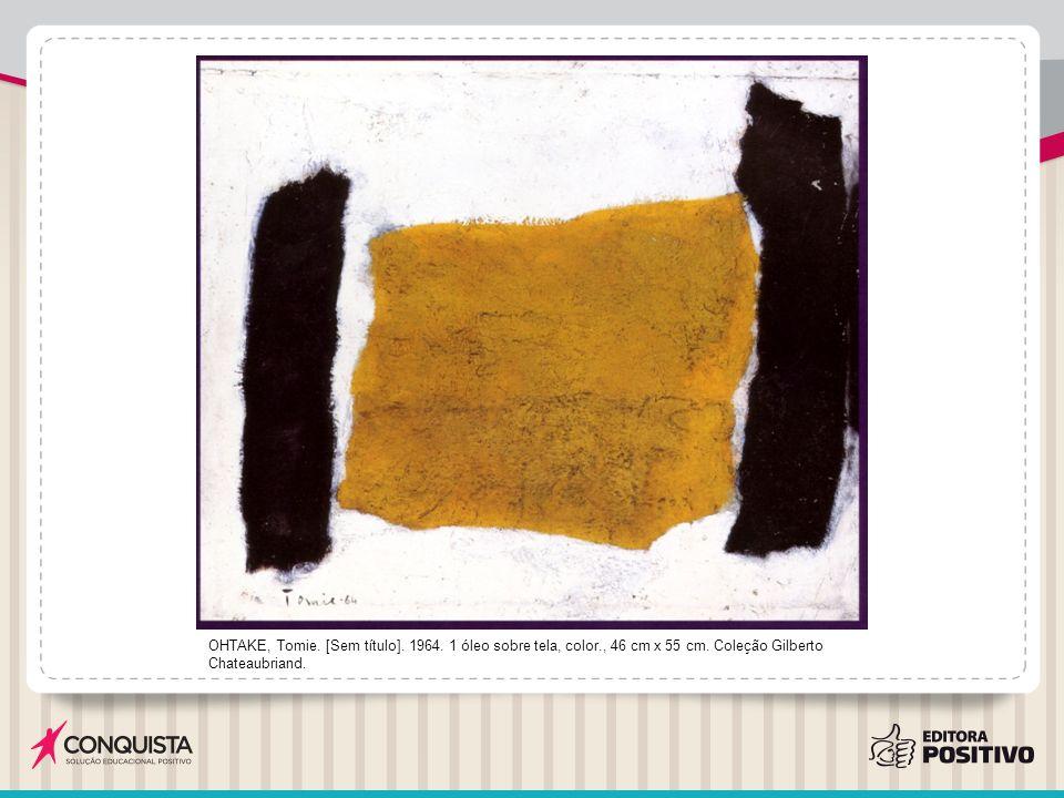 OHTAKE, Tomie. [Sem título]. 1964. 1 óleo sobre tela, color